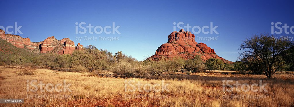 Bell Rock, South of Sedona, Arizona stock photo
