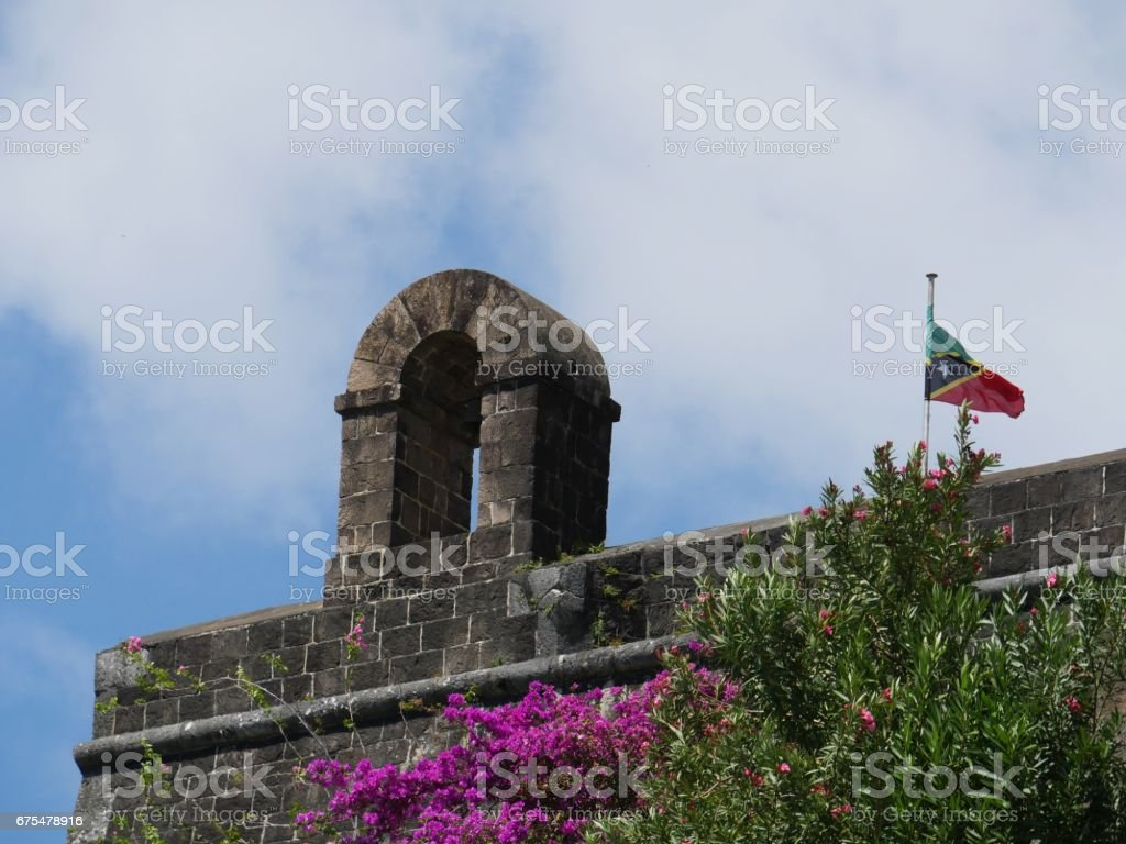 Bell Tower at Brimstone Hill Fortress, St. Kitts stock photo