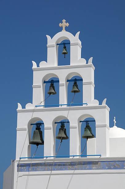 Bell tower in a chapel of Santorini - foto de stock