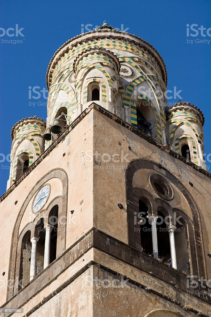 Bell tower in Amalfi royalty-free stock photo