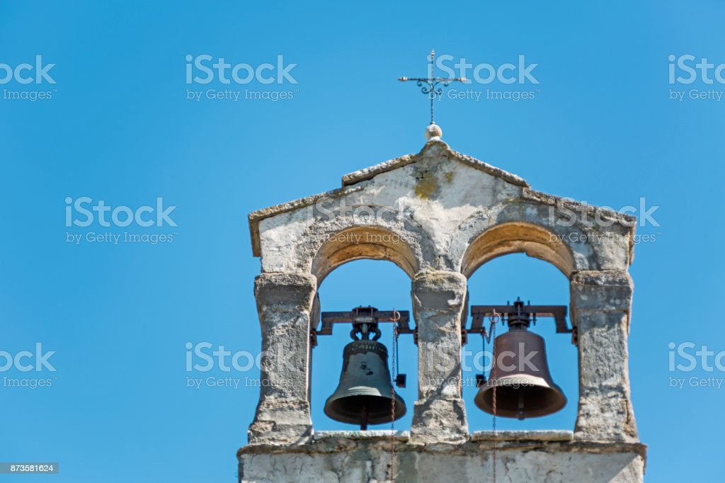 Bell tower in Istria stock photo