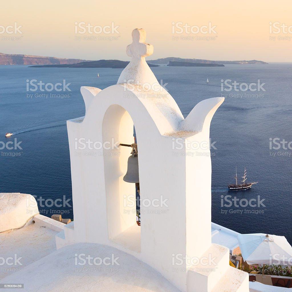Bell tower in Oia, Santorin, Griechenland. – Foto