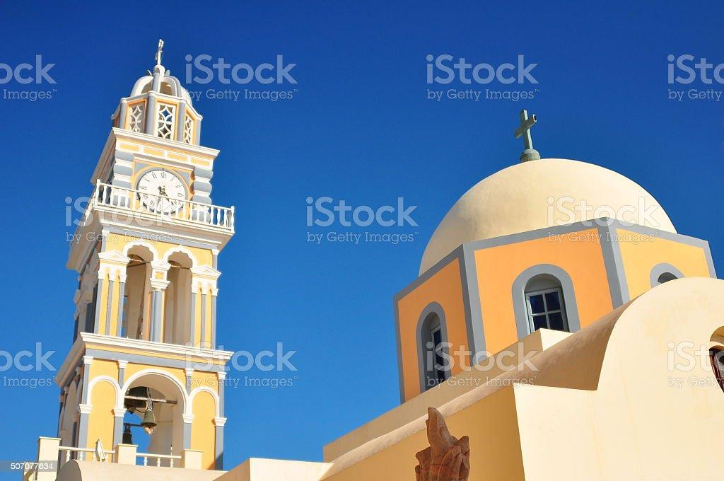 Bell tower in Oia,Santorini stock photo
