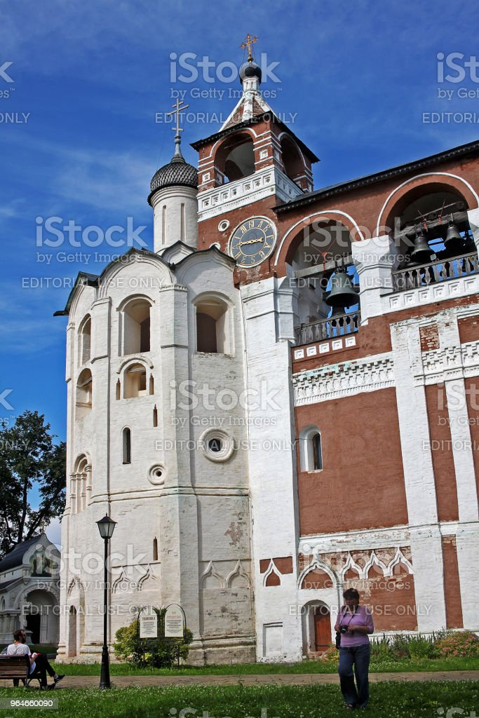 Bell tower in Suzdal, Russia royalty-free stock photo