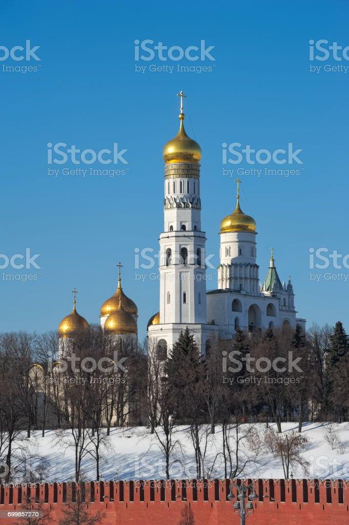 Clocher Ivan le grand, le Beffroi de l'Assomption et l'annexe Filaret, Kremlin de Moscou, construit au cours des années 1505-1508, l'objet du patrimoine culturel - Photo