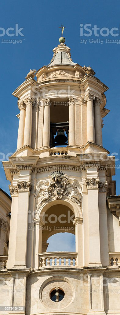 Bell Tower Near The Forum in Rome stock photo