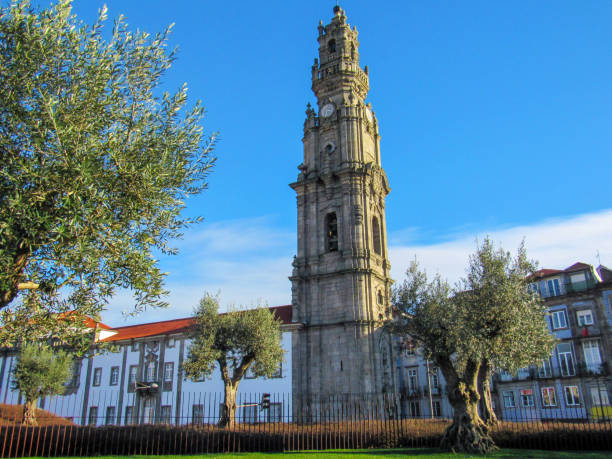 bell tower of Clerigos church, Baroque church in the city of Porto, Portugal bell tower of Clerigos church, Baroque church in the city of Porto, in Portugal bell tower tower stock pictures, royalty-free photos & images
