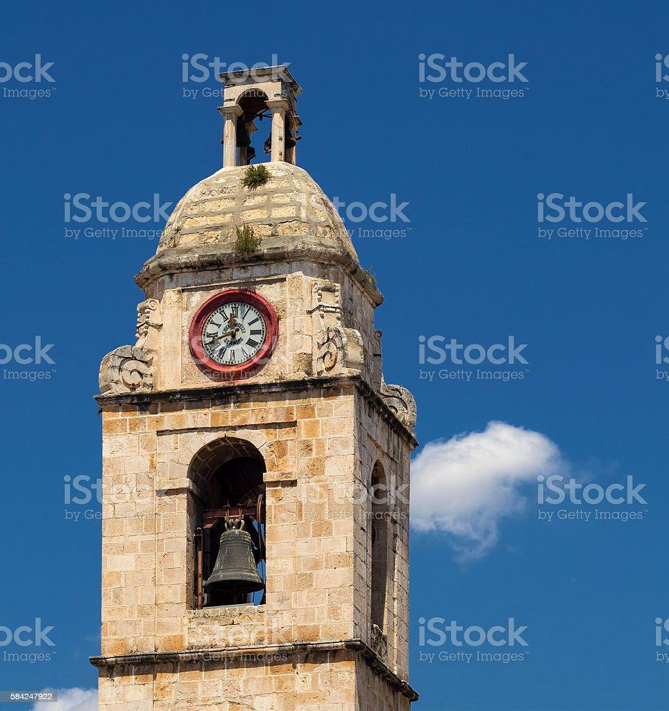 Bell tower of Manfredonia - Gargano stock photo