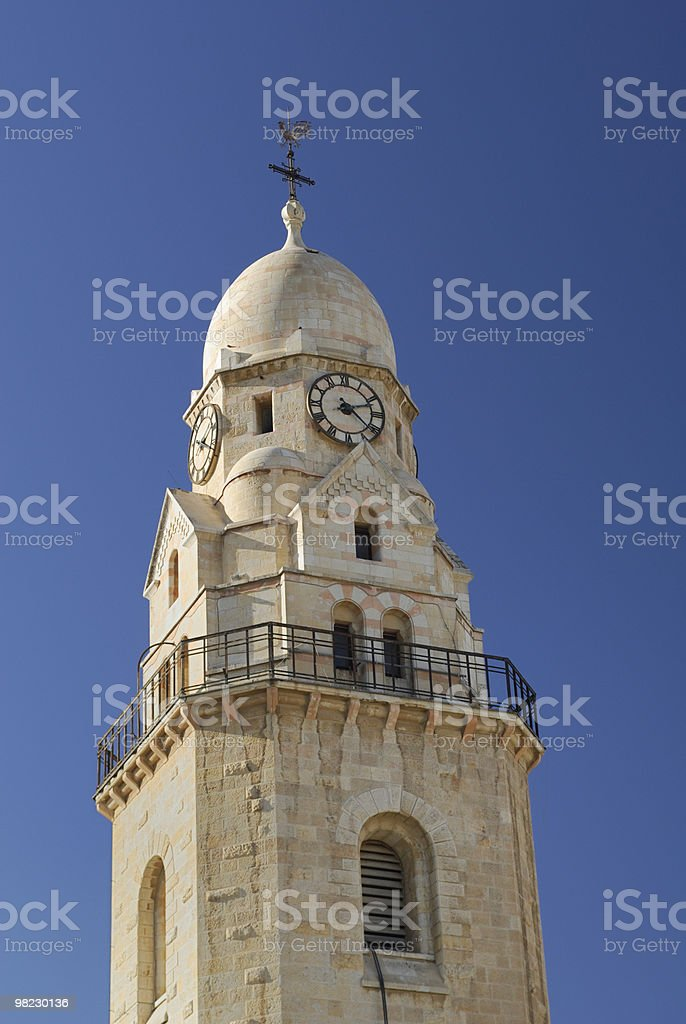 Bell Tower of the Hadia Maria Sion Abbey royalty-free stock photo