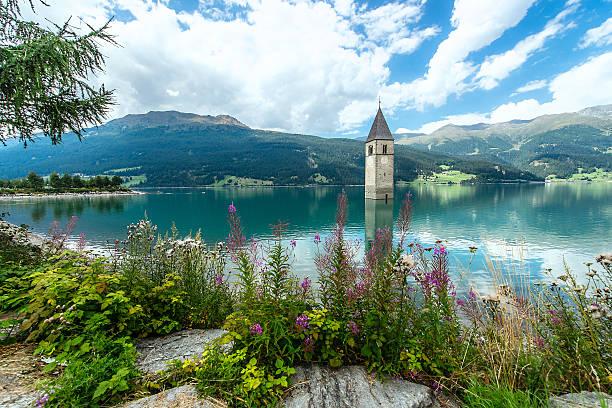 Glockenturm des Reschensee (Resia) Südtirol Italien – Foto