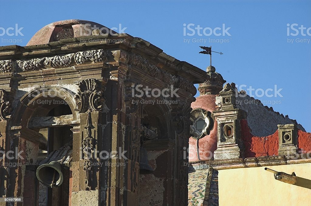 bell tower san miguel royalty-free stock photo