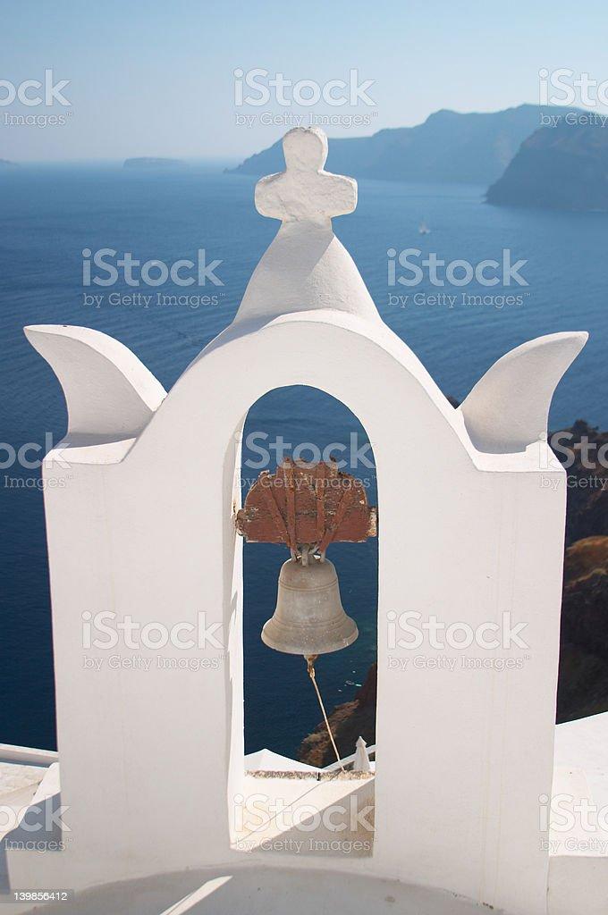 Bell tower, Santorini, Greece royalty-free stock photo