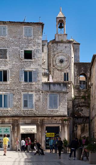Bell Tower Under The Clock In Split Stock Photo - Download Image Now