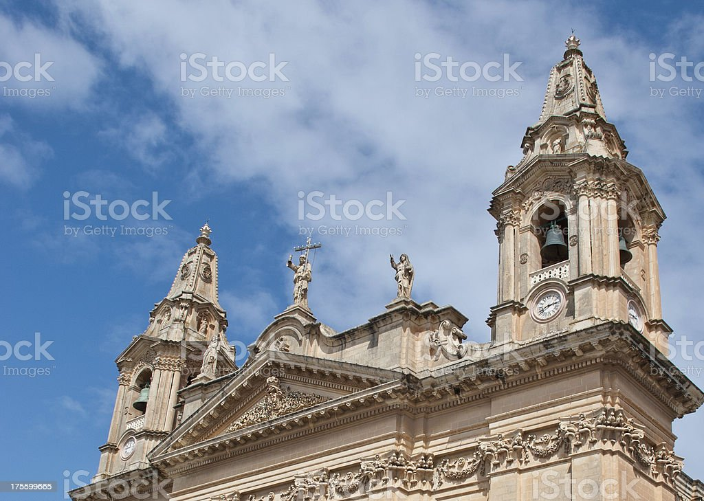 Bell Towers in Malta stock photo