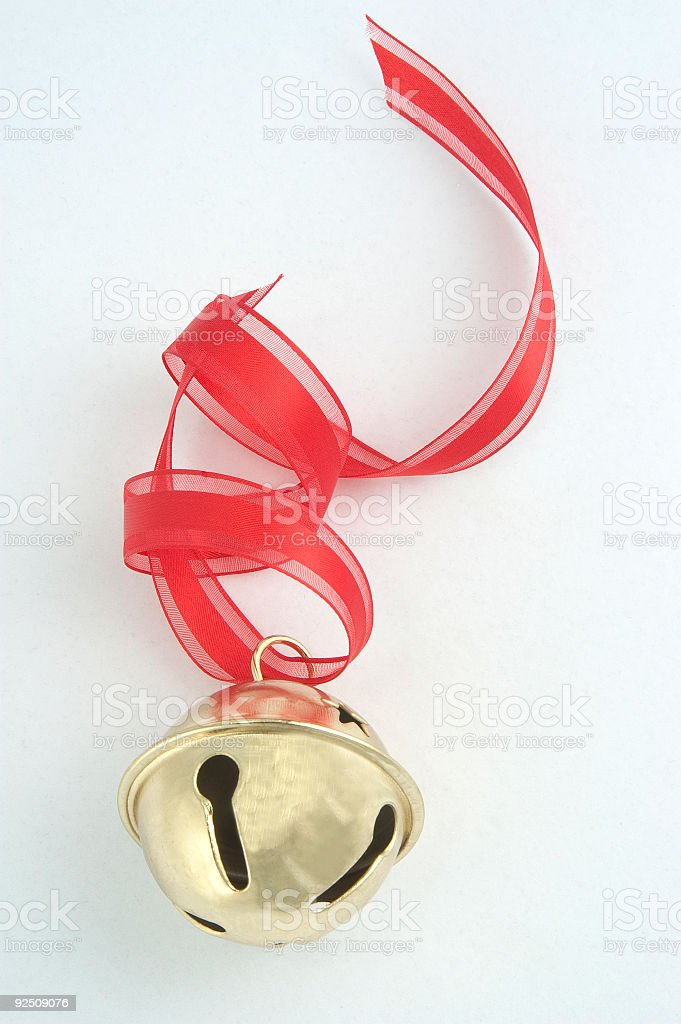 bell with ribbon royalty-free stock photo