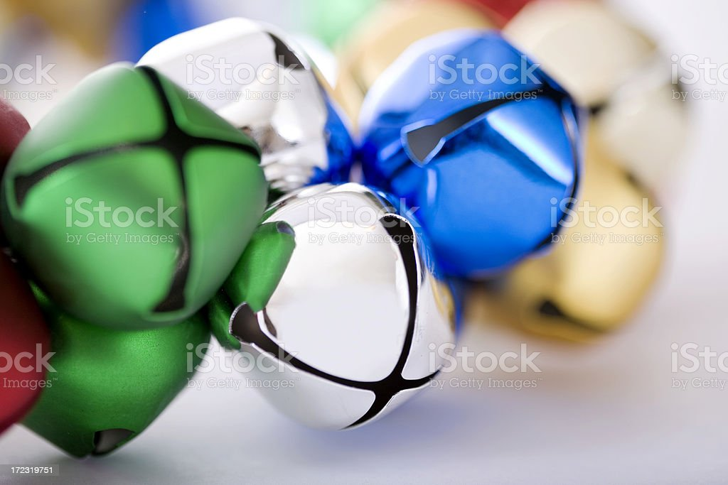 Bell Wreath Close Up for Christmas, Copy Space royalty-free stock photo