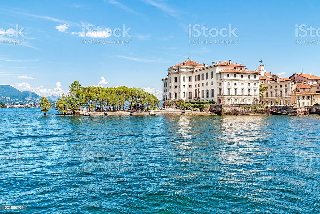 Bella Island or Isola Bella on Maggiore lake stock photo