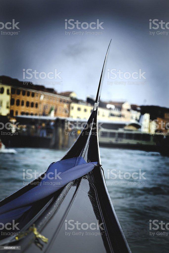 Bella Italia Series. Gondola at Venetian Grande Canal. Italy. royalty-free stock photo