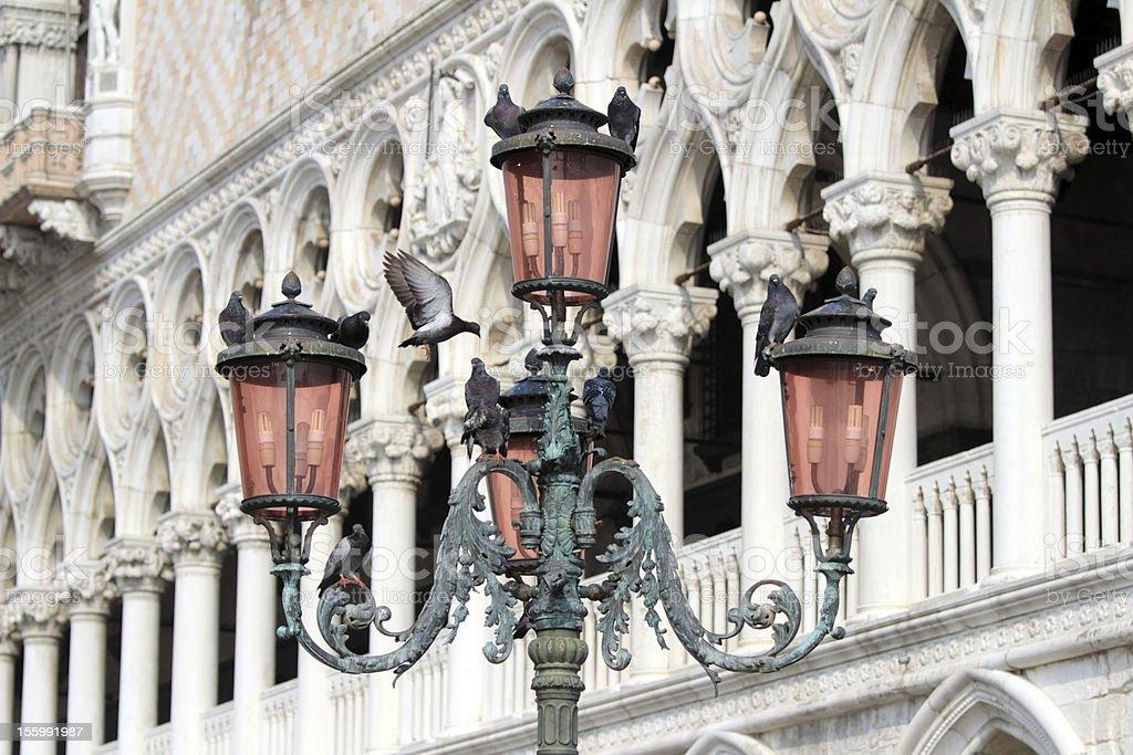Bella Italia series. Lamppost. Venice. stock photo