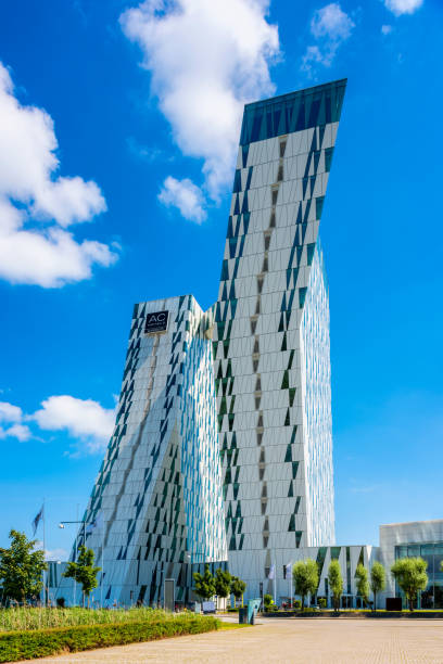 ac bella sky marriott hotel in orestad bezirk von kopenhagen dänemark - hotels in kopenhagen stock-fotos und bilder
