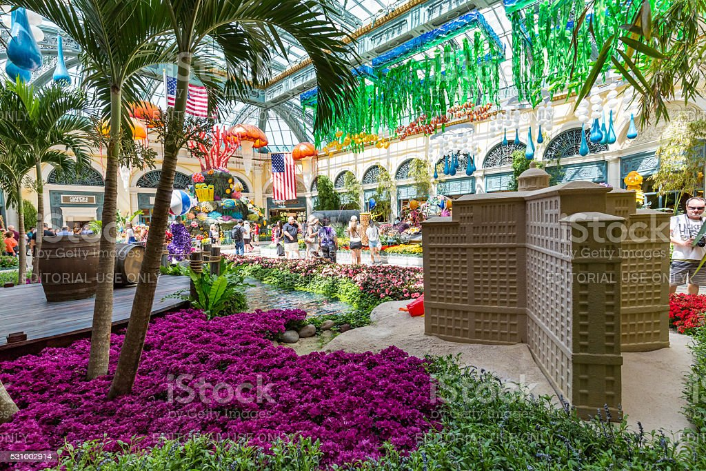 Bellagio Casino Resort on the Las Vegas Strip stock photo