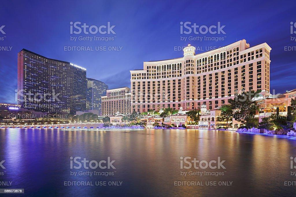 Bellagio + Cosmopolitan  - Las Vegas stock photo