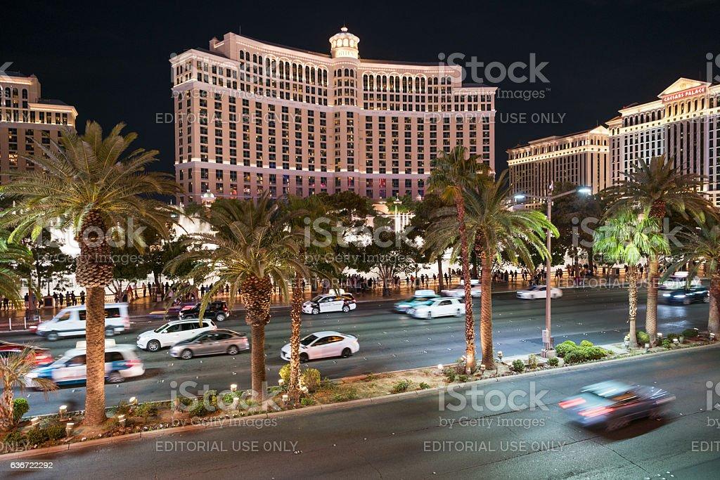Bellagio Fountain Show, Las Vegas Strip, Las Vegas, USA stock photo