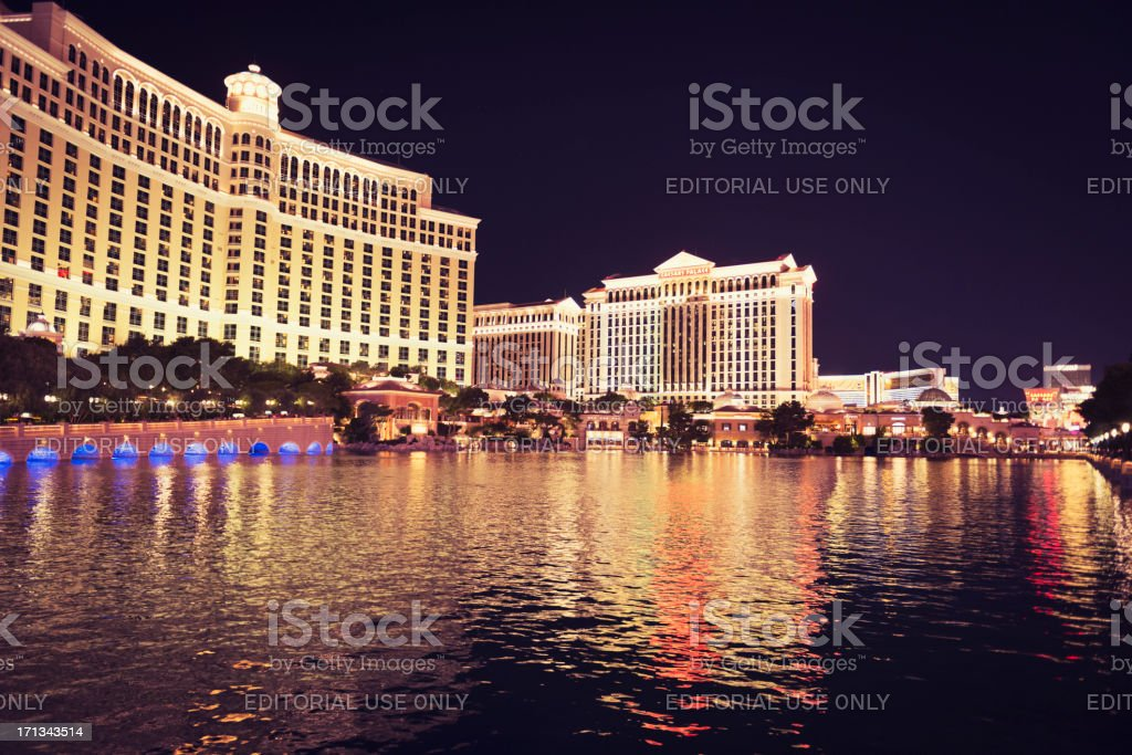 Bellagio Hotel and fountain on Las Vegas royalty-free stock photo