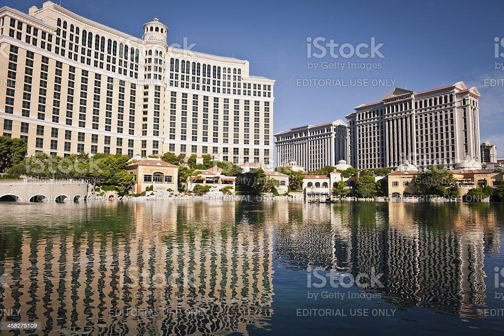 Bellagio Hotel Cacino and Caesars Palace Las Vegas USA royalty-free stock photo