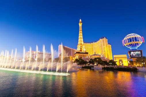 Bellagio, Paris and Bally's, Las Vegas, Nevada.