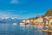 Bellagio small village on Lake Como, in Lombardy region, north Italy