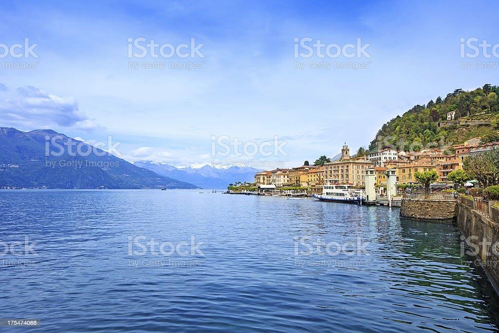 Bellagio town, Como Lake district landscape. Italy, Europe. stock photo