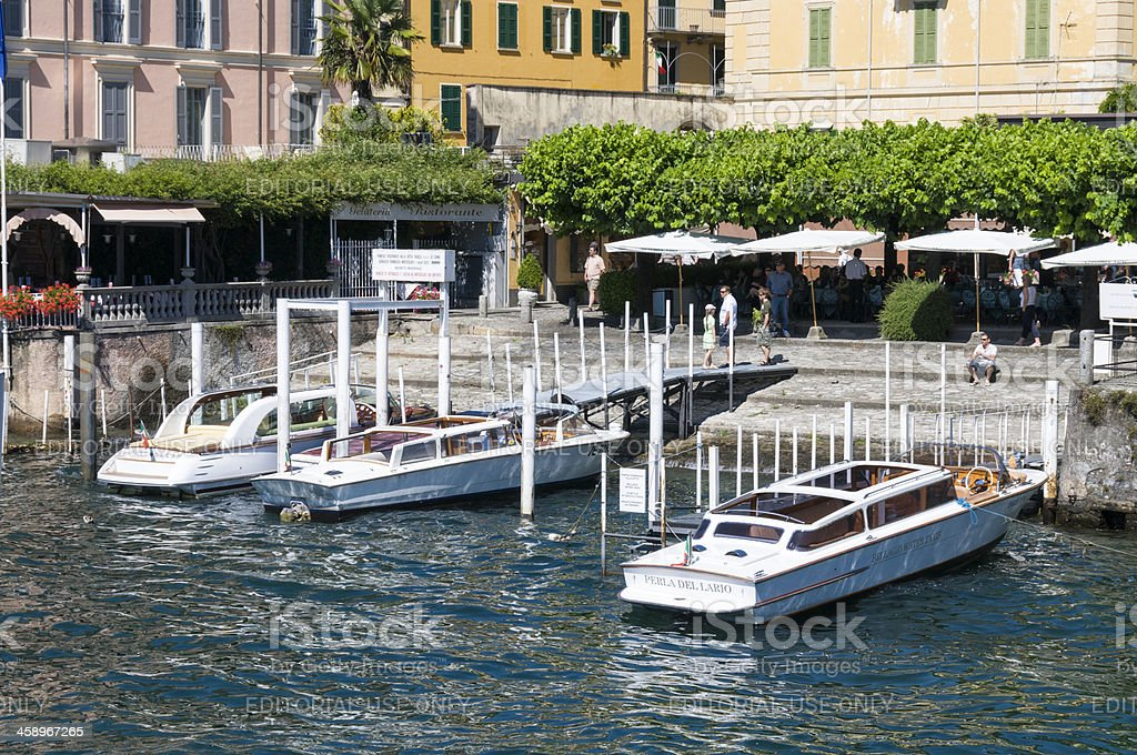 Bellagio Water Taxis royalty-free stock photo