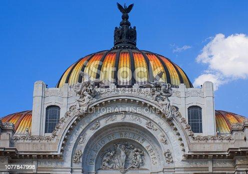istock Bellas Artes (Palace of fine art) in Mexico City. 1077847998
