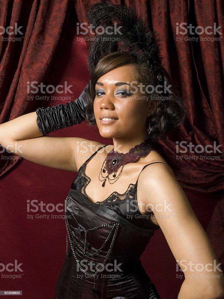 Belle Epoque Dancer stock photo