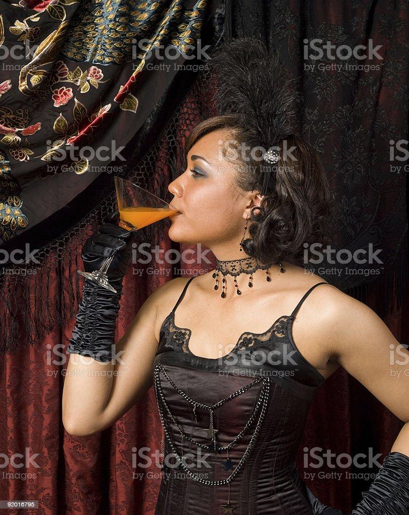Belle Epoque Drinking stock photo