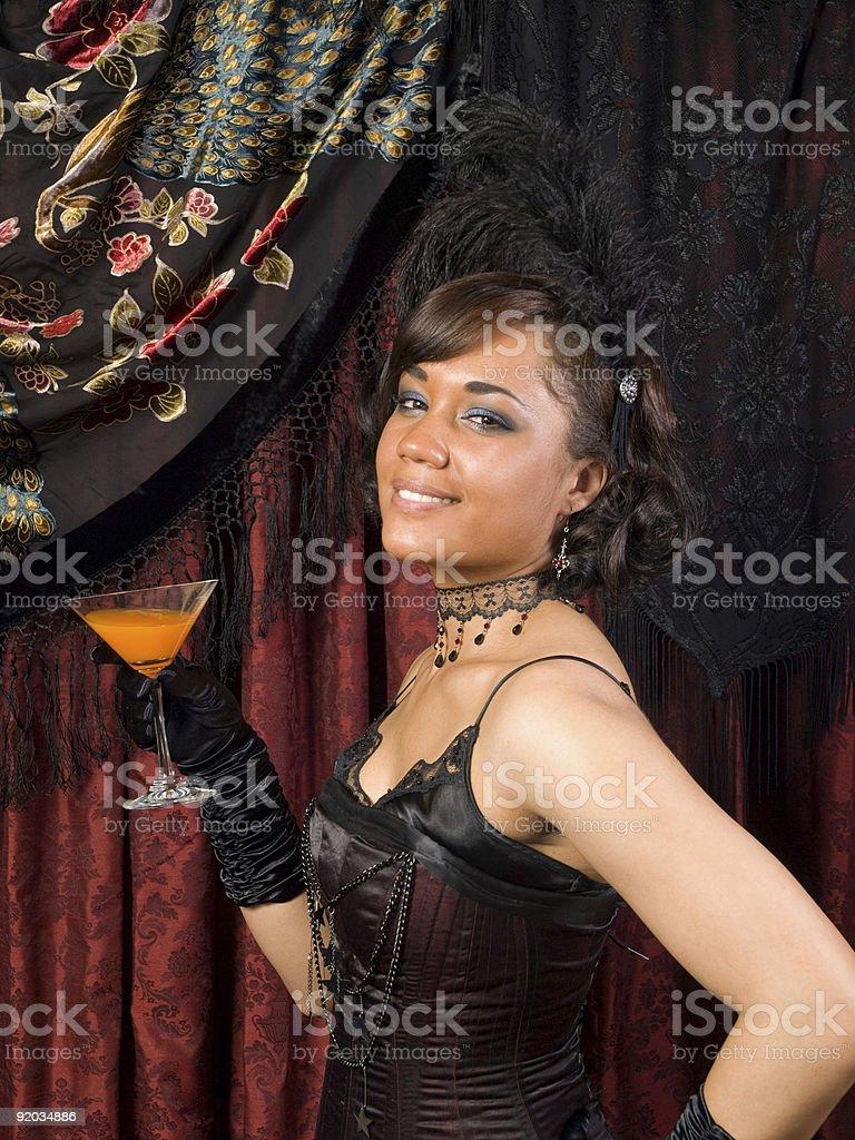 Belle Epoque Flirty stock photo