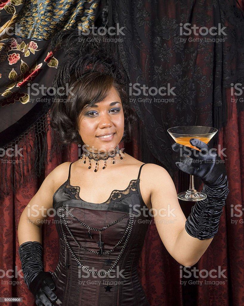 Belle Epoque Inviting Toast stock photo