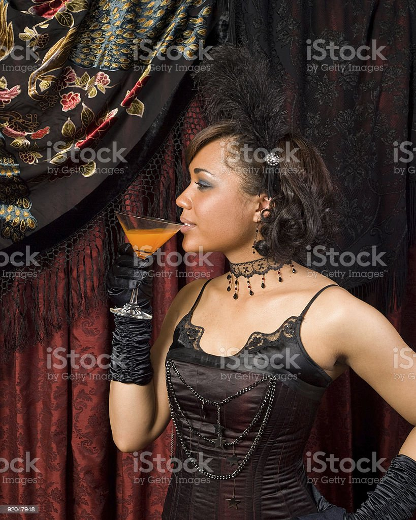 Belle Epoque Sipping stock photo