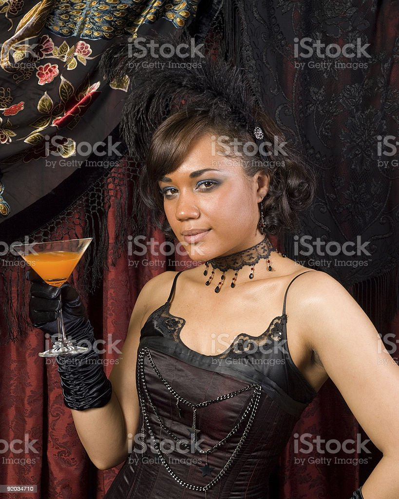 Belle Epoque Sultry stock photo