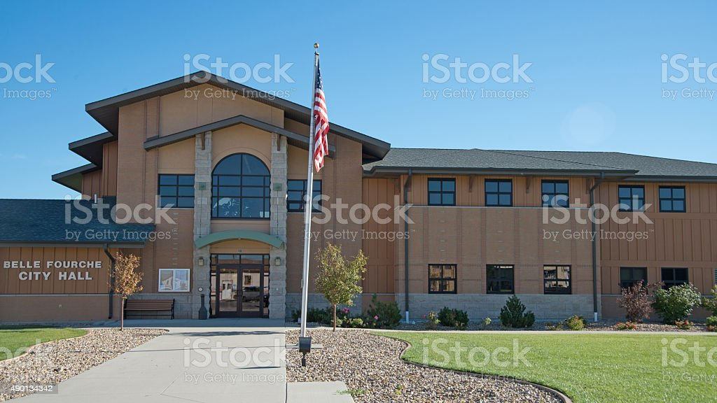Belle Fourche City Hall stock photo