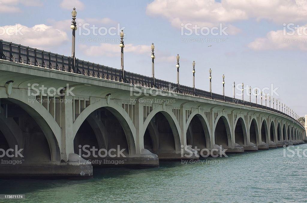 Belle Isle Bridge stock photo