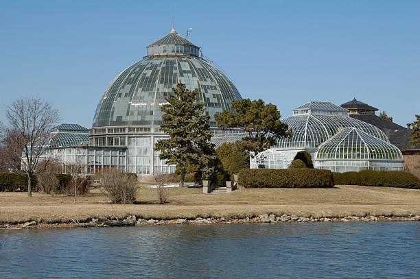 Belle Isle Conservatory stock photo