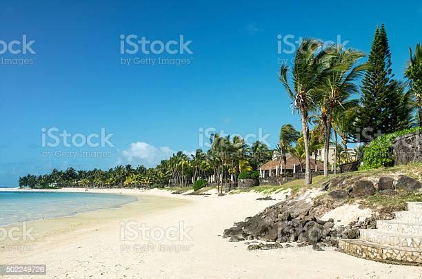 Belle Mare coastline, Mauritius