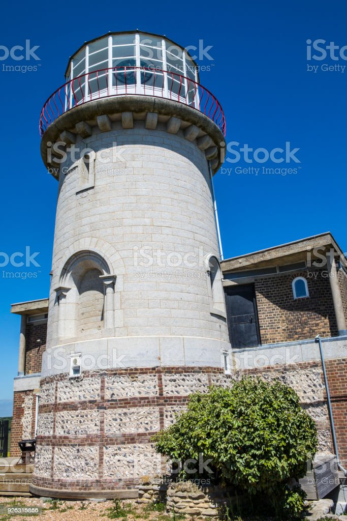 Belle Tout Lighthouse in East Sussex, UK stock photo