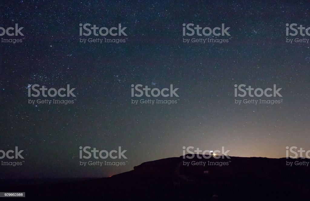 Belle Tout Lighthouse with Orion stock photo