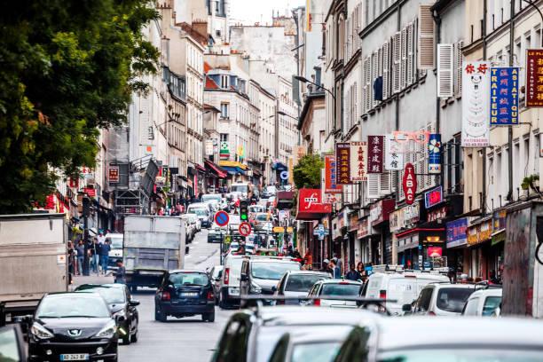 Belleville district, Paris stock photo