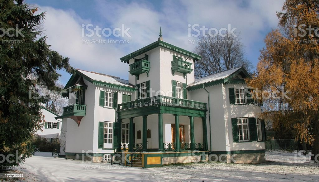 Bellevue House Kingston in Light Snow royalty-free stock photo