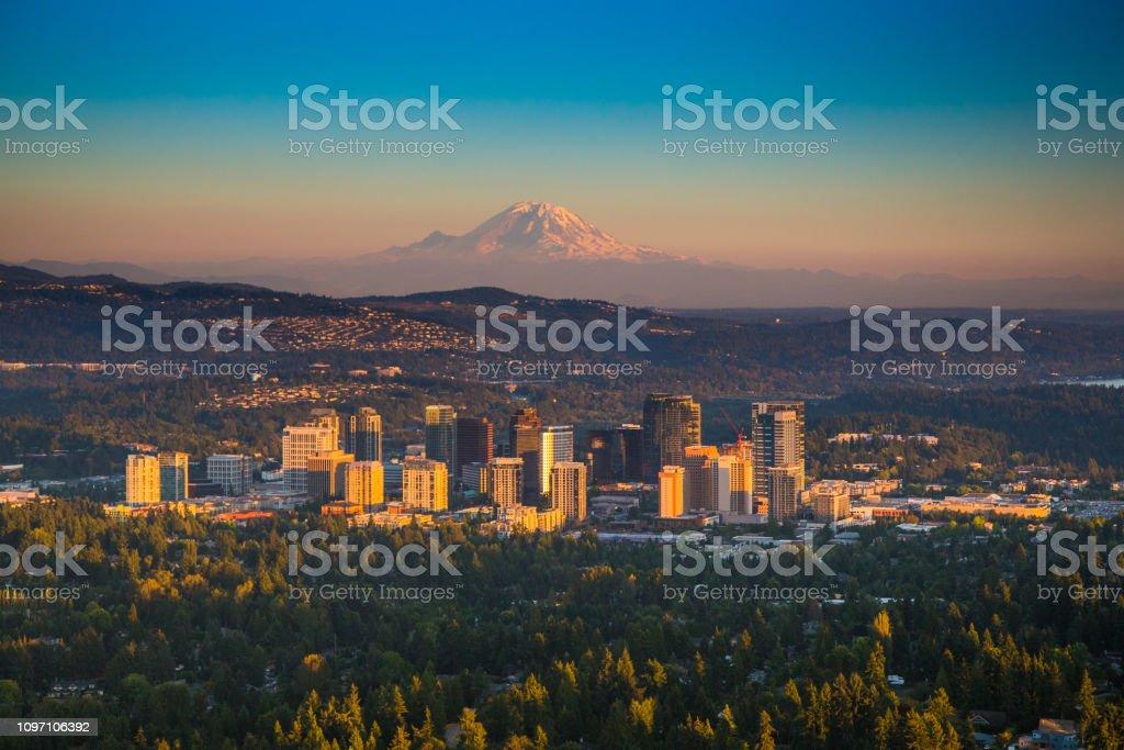 Bellevue - Zbiór zdjęć royalty-free (Bellevue - stan Waszyngton)