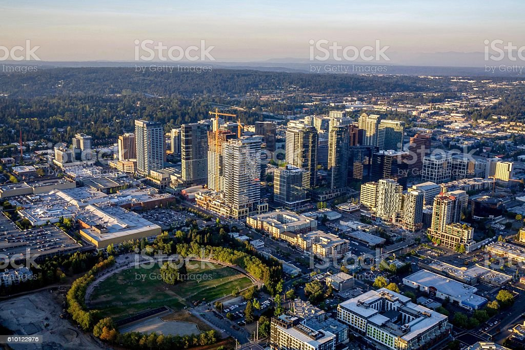 Bellevue Skyline stock photo
